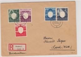 GG Generalgouvernement MiNr. 105-109 Gestempelt, 4x FDC 14.9.43, Einschreiben - Occupation 1938-45