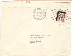 18445 - ALGER STRASBOURG - Marcophilie (Lettres)