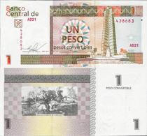 Cuba 2011 - 1 Peso Convertibles - Pick FX46 UNC - Cuba