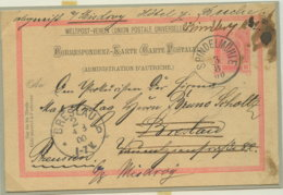 1900 SPINDELMÜHLE Korrespondenz 10 Heller N. Breslau - Ganzsachen