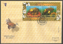 Bosnia And Herzegovina - Honeybees, FDC, 2004 - Honeybees