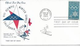 7-OLIMPIADI INVERNALI SQUAW VALLEY CALIFORNIA 1960-FDC VIII OLIMPIC WINTER 1960 - Sci