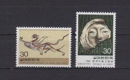 Südkorea 1208-1209 ** Postfrisch Koreanische Kunst, South Korea MNH #V328 - Korea (Süd-)
