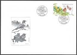 Czech Republic - Sudeten-violet (Viola Lutea Sudetica) And Alpine Sulla, FDC, 2005 - Butterflies