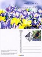 Latvia - Butterfly And Flower, Postcard, CTO, 2013 - Butterflies