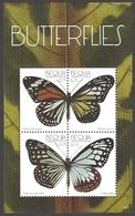 Saint Vincent And The Grenadines - Butterflies /Bequia/, Souvenir Sheet With 4 Stamps, MINT, 2011 - Butterflies