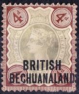 BRITISH BECHUANALAND 1897 QV GB 4d Green & Purple-Brown SG54 FU - 1885-1964 Bechuanaland Protectorate