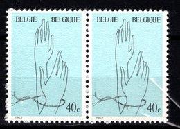 1224** V14 Chiffon Blanc Dans Les Barbelés - Cote 3,00 € - Variétés Et Curiosités