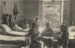 Militaria Hopital A 7 De Mongré à Villefranche Sur Saone Salle N°10 Partie De Cartes Infirmière RV - Villefranche-sur-Saone