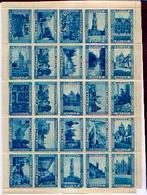 BRUGGE – Feuille De 25 Vignettes Bleues Différentes - Vignettes D'affranchissement