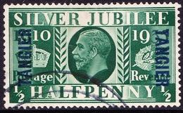 TANGIER 1935 KGV 1/2d Green SG238 FU - Morocco Agencies / Tangier (...-1958)