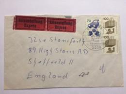 GERMANY - 1974 Cover Expres Krempen To Sheffield UK - [7] République Fédérale