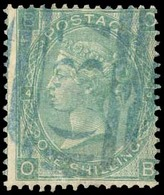 CHILE. C-37 (Caldera BPO) In Blue, On 1 Shilling Green. Watermark ERROR (4 Emblems) (normal £375 + Caldera!). Rarity. Un - Chile