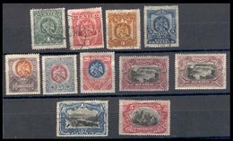 MEXICO. 294 / 303** / 301a**. 1899. Complete Issue Mint. The 4 Low Values Are , 1 Peso Has Perfs Missing And 5 Pesos Has - México