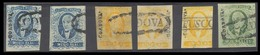 MEXICO. Sc 1º(2)/2º(2)/3º. CORDOVA District. 1856. 1/2rl (2, With And Without District Name) (RR). Oval Cancels, 1rl (3) - Mexico