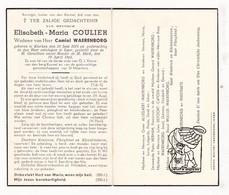 DP Elisabeth M. Coulier ° Klerken Houthulst 1878 † Ieper 1944 X Waerenborg / Allegaert Defoort Capoen Wullus Verstraete - Devotion Images