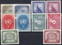 UNO NEW YORK 1958 Mi-Nr. 66-75 Kompletter Jahrgang/complete Year Set ** MNH - New York - Hoofdkwartier Van De VN