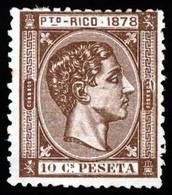 PUERTO RICO. Bonito Aspecto. Un Diente Corto. Mint O.G.hinged. E-19. Sale! - Puerto Rico