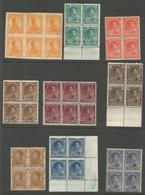 VENEZUELA. 1900s. Selection Of 9 Diff Mint Multiples, 20 Bolivares Block Of Six! Suprems Lot. XF.. Sale! - Venezuela
