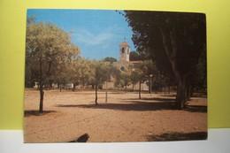 ILE DE  PORQUEROLLES  -  L'Eglise Et La Place D'Armes       - ( Pas De Reflet Sur L'original ) - Porquerolles