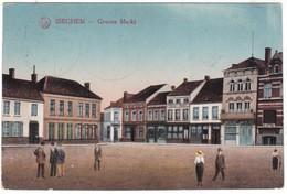 9961 Belgium, Iseghem Postcard Feldpost Military Mailed 1916: Groote Markt Square, Animated - Ichtegem