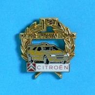 1 PIN'S  //  ** CITROËN / 1er PARIS PEKIN / 1992 ** . (Arthus Bertrand Paris) Double Moule - Citroën