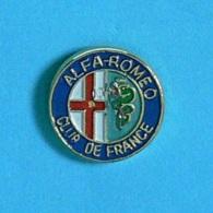 1 PIN'S  //  ** LOGO / ALFA-ROMEO / CLUB DE FRANCE ** - Alfa Romeo