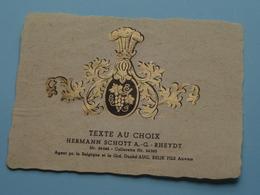 TEXTE Au CHOIX Nr.24244 > 24245 Hermann Schött RHEYDT > Aug. RELIK Anvers ( Zie/voir Foto / Format +/- 9,5 X 13 Cm. ) ! - Labels