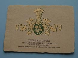 TEXTE Au CHOIX Nr.24242 > 24243 Hermann Schött RHEYDT > Aug. RELIK Anvers ( Zie/voir Foto / Format +/- 9,5 X 13 Cm. ) ! - Etiquettes