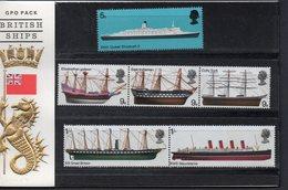 GREAT BRITAIN, 1969 SHIPS PACK  MNH - 1952-.... (Elisabetta II)