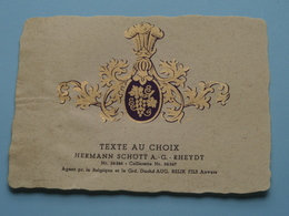 TEXTE Au CHOIX Nr.24246 > 24247 Hermann Schött RHEYDT > Aug. RELIK Anvers ( Zie/voir Foto / Format +/- 9,5 X 13 Cm. ) ! - Labels