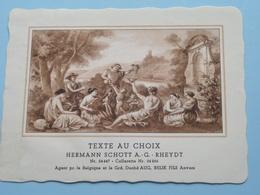 TEXTE Au CHOIX Nr.24447 > 24266 Hermann Schött RHEYDT > Aug. RELIK Anvers (  Voir Foto / Format +/- 13,5 X 10,5 Cm.) ! - Labels