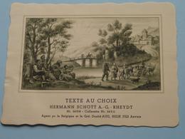 TEXTE Au CHOIX Nr.24308 > 24311 Hermann Schött RHEYDT > Aug. RELIK Anvers (  Voir Foto / Format +/- 13,5 X 10,5 Cm.) ! - Etiquettes
