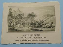 TEXTE Au CHOIX Nr.24310 > 24311 Hermann Schött RHEYDT > Aug. RELIK Anvers ( Voir Foto / Format +/- 13,5 X 10,5 Cm.) ! - Etiquettes