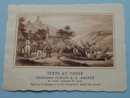 TEXTE Au CHOIX Nr.24450 > 24266 Hermann Schött RHEYDT > Aug. RELIK Anvers ( Voir Foto / Format +/- 13,5 X 10,5 Cm.) ! - Labels