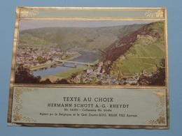 TEXTE Au CHOIX Nr.24230 > 24456 Hermann Schött RHEYDT > Aug. RELIK Anvers ( Zie/voir Foto / Format +/- 12,5 X 10 Cm. ) ! - Etiquettes