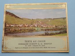 TEXTE Au CHOIX Nr.24235 > 24456 Hermann Schött RHEYDT > Aug. RELIK Anvers ( Zie/voir Foto / Format +/- 12,5 X 10 Cm. ) ! - Labels