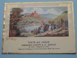 TEXTE Au CHOIX Nr.23815 > 24312 Hermann Schött RHEYDT > Aug. RELIK Anvers ( Zie/voir Foto / Format +/- 13,5 X 10 Cm. ) ! - Etiquettes