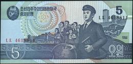 KOREA NORTH - 5 Won 1998 UNC P.40 B(1) - Korea, North