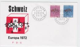 Switzerland 1972 FDC Europa CEPT (G100-51) - Europa-CEPT