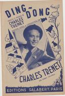 (TRE)CHARLES TRENET , Ding Dong - Partitions Musicales Anciennes