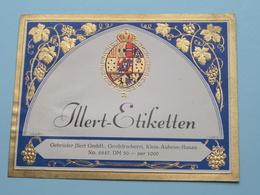ILLERT-Etiketten Gebrüder Illert Klein-Auheim-Hanau N° 6847 ( See/Zie/voir Photo / Format +/- 12,5 X 10 Cm. ) ! - Etichette