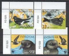 R1247 2005 FOROYAR WWF FAUNA BIRDS DRUNNHVITI 1SET !!! MICHEL 13,5 EURO !!! MNH - W.W.F.