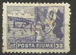 Fiume - 1919 Flag Waving (Posta Fiume) 30c MH *   Mi 64  Sc 48 - Fiume