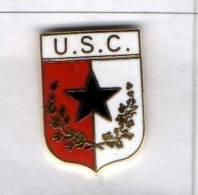 U.S.C. Calvarese Calcio Distintivi FootBall Soccer Pin Spilla S. Colombano Certenoli Genova Italy - Calcio