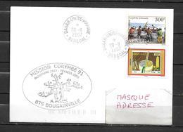 B.T.S. BOUGAINVILLE - Mission CORYMBE 91 - Escale à DAKAR -TàD DAKAR UNITE MARINE 20/11/07 Sur Timbres Sénégalais - Marcophilie (Lettres)