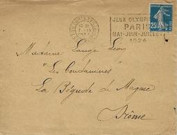 """1924 - PARIS XVIII - Rue De Clignancourt - FLYER """"Jeux Olympiques /PARIS /mai-Juin-juillet / 1924 - Summer 1924: Paris"""