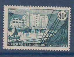 S.P.M.-1955-N°351** LE FRIGORIFIQUE DE SAINT PIERRE - St.Pedro Y Miquelon