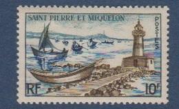 S.P.M.-1957-N°357** PHARE ET FLOTILLE DE DORIS - St.Pierre & Miquelon