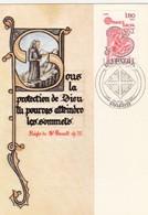FRANCE - CARTE MAXIMUM ST BENOIT - CACHET EUROPA PREMIER JOUR 26.4.180 PARIS   / 1 - Cartas Máxima